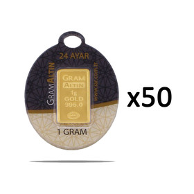 Gramaltın 995 - 1 gr 50 Adet 24 Ayar İAR Gram Altın