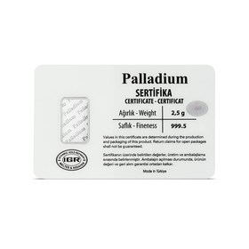 2,5 gr. Paladyum - Thumbnail