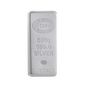 5 - 500 gr İAR Külçe Gümüş