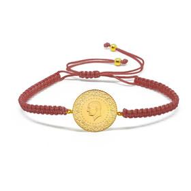 Bileklik - Altın boncuklu çeyrek altın bileklik