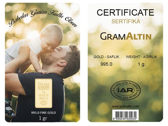 Babalar Günü 1 gr 24 Ayar Kişiye Özel Altın