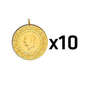 7 - Çeyrek Altın Darphane 10 adet paket ( 2021 )