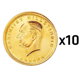 Eski Tarihli Cumhuriyet Ata Lira - Cumhuriyet Ata Lira Darphane 10 adet paket ( Eski Tarihli )