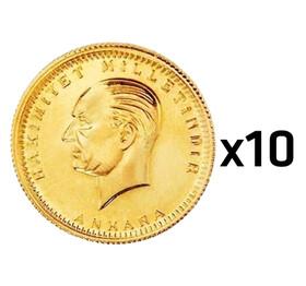 15 - Cumhuriyet Ata Lira Darphane 10 adet paket (97. Yıl Yeni Tarihli)