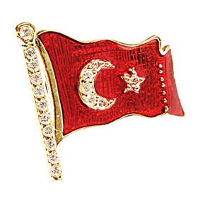 Rozet - İAR Türk Bayraklı Altın Rozet