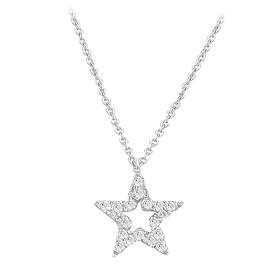Pırlanta Kolye - Özel Tasarım 18 Ayar 0,05 Karat Yıldız Pırlanta