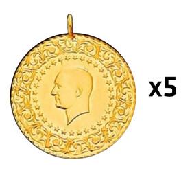 Eski Tarihli Darphane Tam Altın - Tam Altın Darphane 5 adet paket ( Eski tarihli )