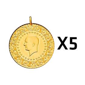 9 - Yarım Altın Darphane 5 adet paket ( 2021 )