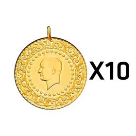 Eski Tarihli Darphane Yarım Altın - Yarım Altın Darphane 10 adet paket ( Eski tarihli )